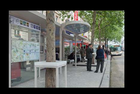 Chic Cafe Bus Stops - The 'Station Diderot' is the European Bus System of the Future