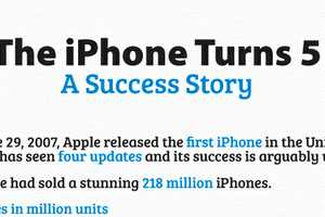 The iPhone 5 Year Anniversary Infographic is Thought-Provoking
