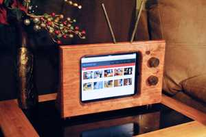 The NotchedArt Wooden iPad Stand is Retro