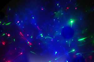 The Laserpod Shoots Colorful LED Lazers at The Ceiling