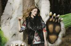 Where the Wild Things are Campaigns - The Mulberry Fall/Winter Advertisements are Literary