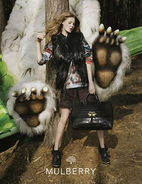Where the Wild Things are Campaigns - The Mulberry Fall/Winter 2013 Advertisements are Literary