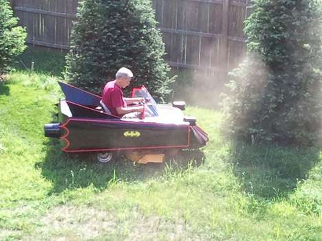 Caped Crusader Grass Cutters - The Batmobile Lawnmower is the Perfect Vessle to Fight Off Evil Weeds