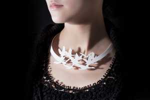 The Haoshi Design Silhouette Necklaces Accent the Clavicle