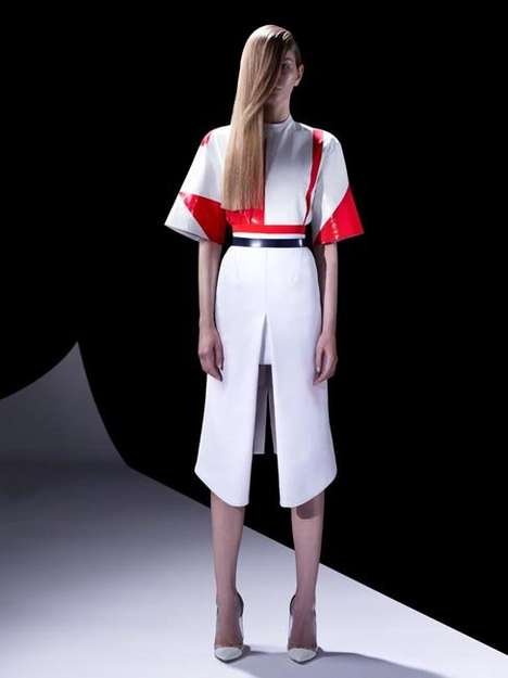 Simple Cyborg Fashion - The Mugler Resort 2013 Lookbook is Future-Friendly