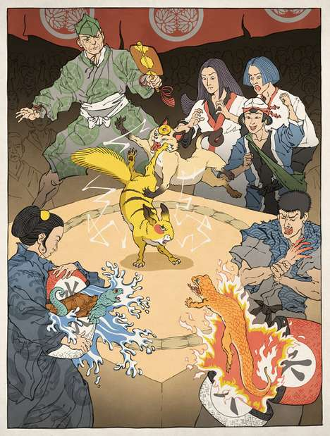 Feudalistic Pokemon Art - Jed Henry Imbues Samurai Mythology into the Nintendo Universes