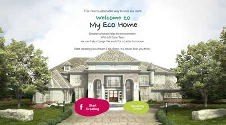 Virtual Green Abode Builders - The LG 'My Eco Home' Campaign Asks You to Create Your Dream House