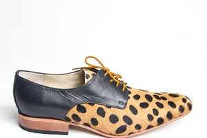 The Faux Leopard Skin Derby Shoes by goodbyefolk are Wildly Appropriate