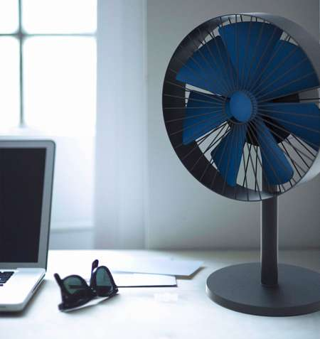 Intimately Controlled Coolers - The Gerhardt Kellermann Fan Changes Speed with a Gentle Stroke