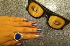 Glittery Americana Manicures