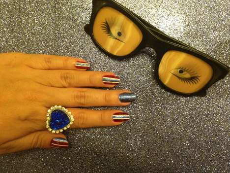Glittery Americana Manicures - The Rookie Mag 'Fourth of July' Nail Tutorial is Patriotic and Glam