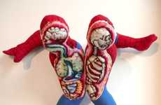 Split Open Superhero Figurines