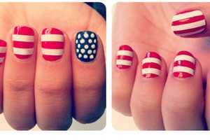 The Beauty Department 'Festive Fourth' Manicure is Patriotic