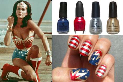 wonderwoman diy nails