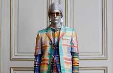 Metallic Gingham Menswear - The Spring Thom Browne Collection Boasts a Surreal Twist