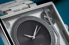 Retro Record Player Watches