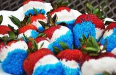 Star-Spangled Berries - These DIY 4th of July Chocolate Covered Strawberries are Strictly American