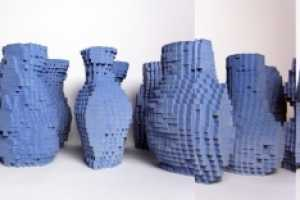 The Pixel Vases by Julian F. Bond are Made with a Casting Machine