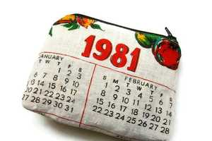 The Vintage Calendar Purses are Adorably Homey