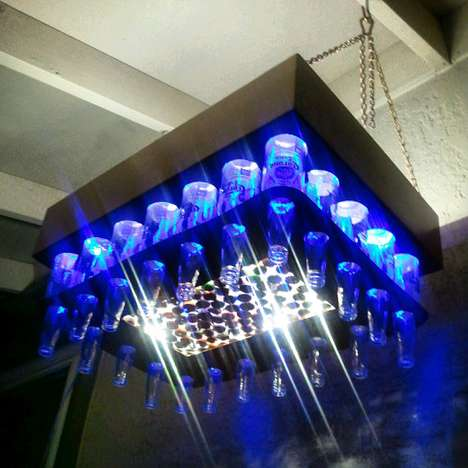 beer bottle chandeliers1