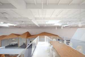 The Hybrid Office Features Topographic Furnishings