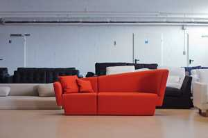 The Tomek Rygalik Chopin Sofa is Dynamically Sloped