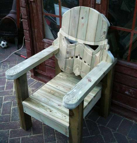 Star Wars Seats - The Stormtrooper Lawn Chair is the Perfect Geek Relaxation Device