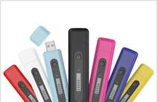 Sleek Storage Chargers - The Powerstick with Memory USB Drive is a Quick Battery Fix