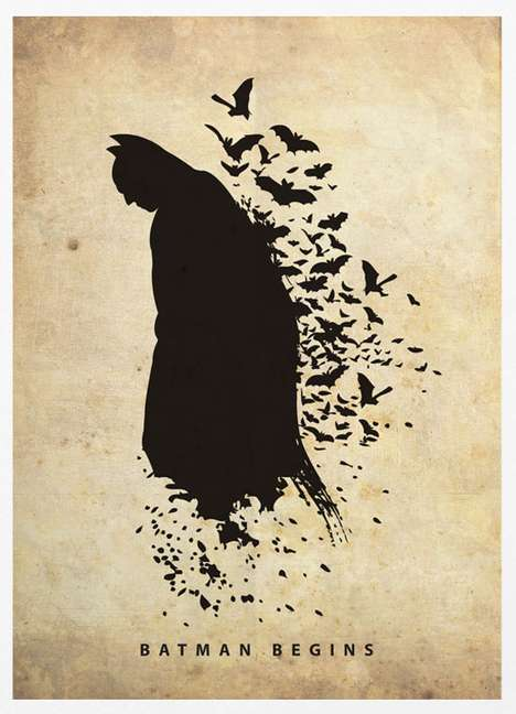 Literal Superhero Silhouettes