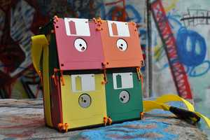 The Recycled Floppy Disk Bag is Retro-Fab