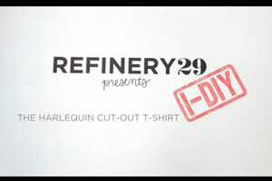 The Refinery29 Cut-Out T-Shirt DIY is Edgy