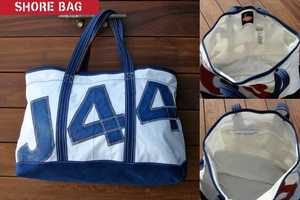 The Boyd Sailcloth Line of Totes are Constructed from Reclaimed Materials