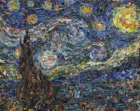 Surreal Painting Collages - The Pictures of Magazine 2 Series by Vik Muniz is Wonderful