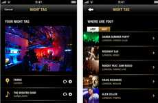 Social Partying Apps - NightTag Lets You Publicize Your Nightlife Experiences