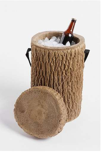 Log Stump Cooler Keeps Your Brews Brisk