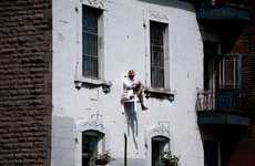 Levitating Senior Citizens - The Angie Hiesl Performance Art Pieces Are High Above The Competition
