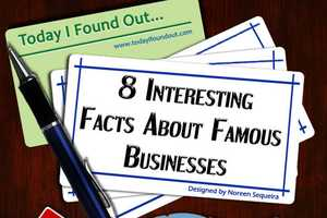 The '8 Interesting Facts About Famous Businesses' Infog
