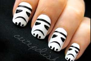 The Cute Polish 'Stormtrooper' Manicure is Adorable and Nerdy Chic