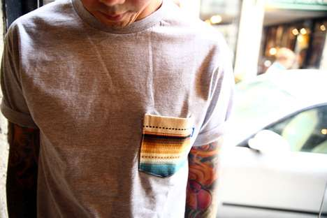 patterned pocket tees