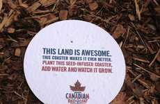 Seed-Like Beer Mats - These Molson Canadian 'Plantable Coasters' are Eco-Friendly