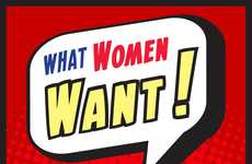 Gendered Craving Charts - The 'What Woman Want' Infographic Gives You The Scoop On Desires