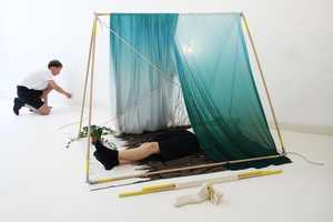 The Hanemaai 'Stretch Out' Portable Indoor Tent Kit Turns a Space Into a