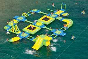 The Wibit Sports Park 60 is an Inflatable Water Park Wonderland