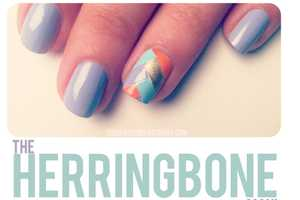 The 'Herringbone' Mani by The Beauty Department is Chic
