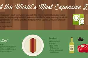 The 10 of the World's Most Expensive Dishes Infographic is Opulent