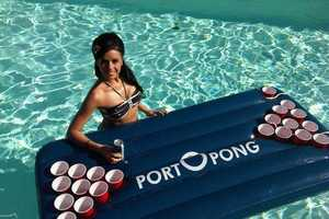 The 'PORTOPONG' Inflatable Beer Pong Table Revolutionizes the