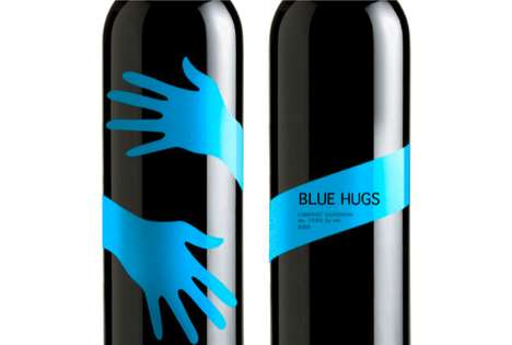 Blue Hugs Wine Packaging