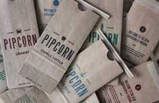 The Pipcorn Packaging is Inspired by Vintage 1850s Signage