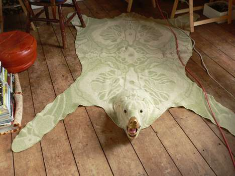 Fabric Bear Skin Rugs