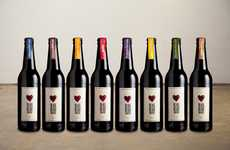 Distressed Ticker Vino Branding - The Black Heart Brewery Packaging is Rustically Romantic